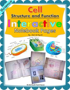 Cell: Structure and Function Interactive Notebook Pages