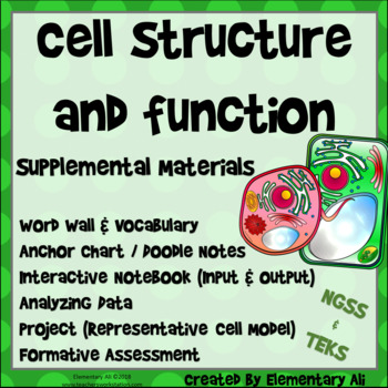 Cell Structure and Function - Lesson Supplement (NGSS & TEKS)