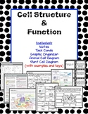 Cell Structure and Function Article, Task Cards, Diagrams,