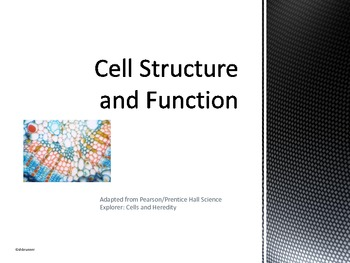 Cell Structure and Function Power Point