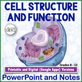 Cell Organelles Structure and Function Powerpoint and Notes