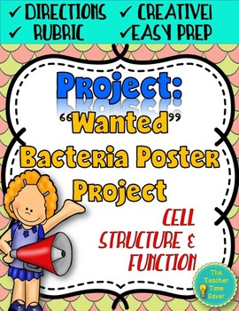 Eukaryotic And Prokaryotic Cells Project With Rubric Worksheets Tpt