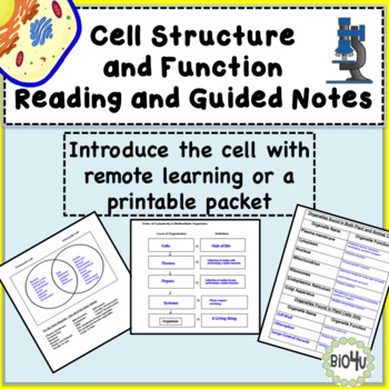 Cell Structure and Function Reading and Guided Notes