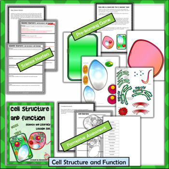 Cell Structure and Function - Science and Literacy Lesson Set (NGSS)