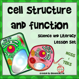 Cell Structure and Function - Science and Literacy Lesson Set with DIGITAL