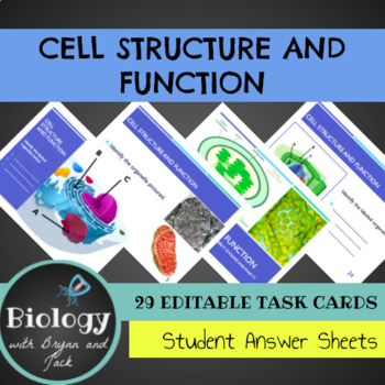 Cell Structure and Function Task Cards