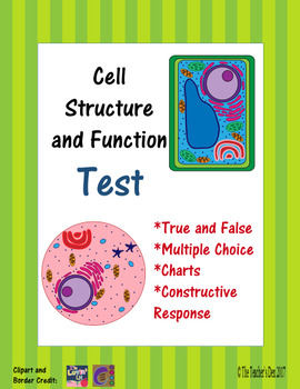 Cell Structure and Function Test