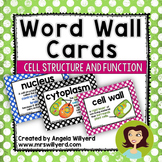 Cell Structure and Function Word Wall Cards
