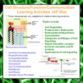 Cell Structure/Function/Communication Learning Package for AP/Advanced Biology