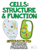 Cell Structure and Function of Cells Differentiated Nonfiction Reading Passages