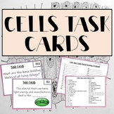 Cell Structures and Functions Task Cards- 32 Cards with Answer Key