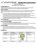 Cell Stuctures and Functions Game Puzzle with Worksheet