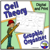 Biology - Organelles Graphic Organizer with Cell Theory Study Guide