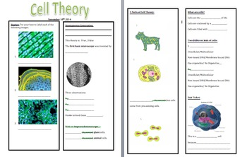Cell Theory Guided Notes & Prezi PDF