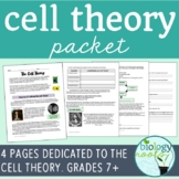 Cell Theory Packet- supports distance learning