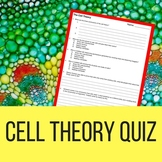 Cell Theory Quiz