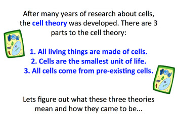 Cell Theory SMART notebook presentation