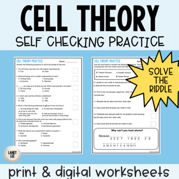 Cell Theory Self Checking Practice