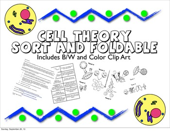 cell theory sort and foldbook by curly que science tpt. Black Bedroom Furniture Sets. Home Design Ideas