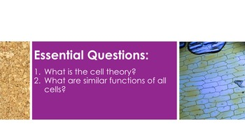Cell Theory - Supplemental Lesson - No Lab