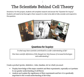 Cell Theory Timeline Assignment