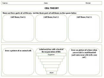 cell theory worksheet by smarty pants dance teachers pay teachers. Black Bedroom Furniture Sets. Home Design Ideas