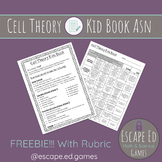 Cell Theory Kids Book Assignment & Rubric (FREEBIE)