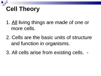 Cell Theory and Cell Types