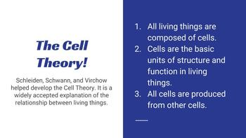 Cell Theory and the Discovery of Cells PPT- EDITABLE