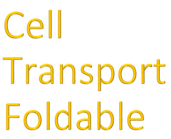 Cell Transport Foldable