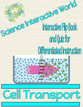 Cell Transport Interactive Flip Book and Quiz