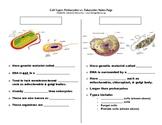 Cell Types: Prokaryote vs. Eukaryote Notes Page