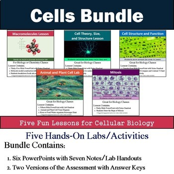 Cell Unit (Five 90min Lesson Bundle with Labs, Activities, and Assessment)
