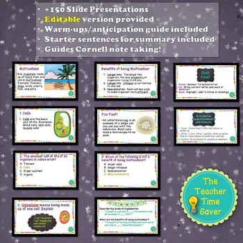 Cell- Biology Unit Bundle Interactive Notebook (5E Complete Lesson Plans)