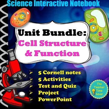 Cell Structure and Function Complete Biology Unit Bundle- Interactive Notebook