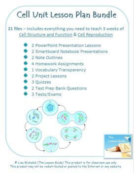 Cell Unit Lesson Plan Bundle - 21 files