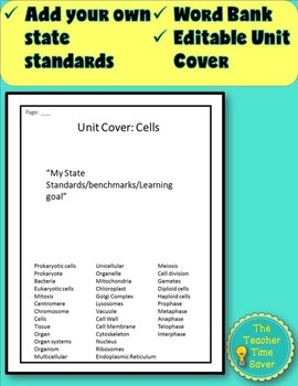 Cell Unit: Pre-Assessment or Warm-ups (presentation and activity)