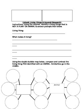 Cell Vocabulary Fill In The Blank & Extension Worksheet Freebie