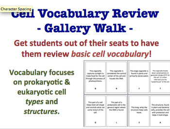 Cell Vocabulary Gallery Walk