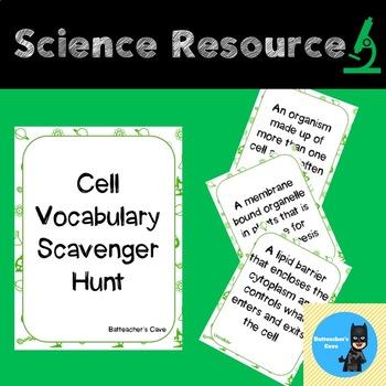 Cell Vocabulary Scavenger Hunt