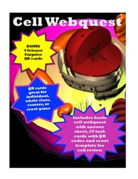 Cell Webquest with QR Task Cards