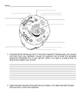 Cell Writing Prompt
