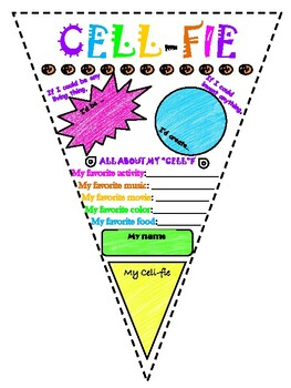 """Cell-fie Banner - All About Me """"Science themed"""""""