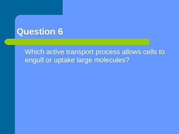 Cell membrane and transport review questions