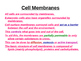 Cell membrane structures