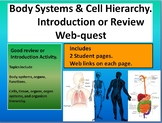 Cell organization hierarchy & human body systems webquest intro/review. With KEY