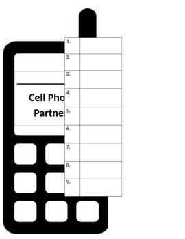 Cell-phone Partner Sheet