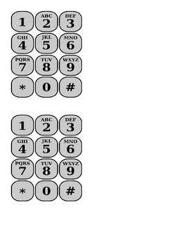 Cell phone speed dial contacts