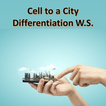 Cell to a City Analogy Worksheet
