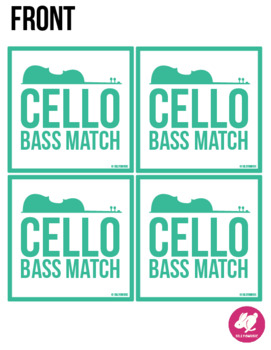 Cello Bass Clef Range - Memory & Matching Card Game for Strings